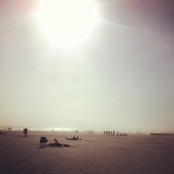 warm afternoon on Folly Beach