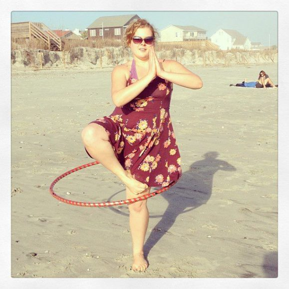tree pose with a hoop