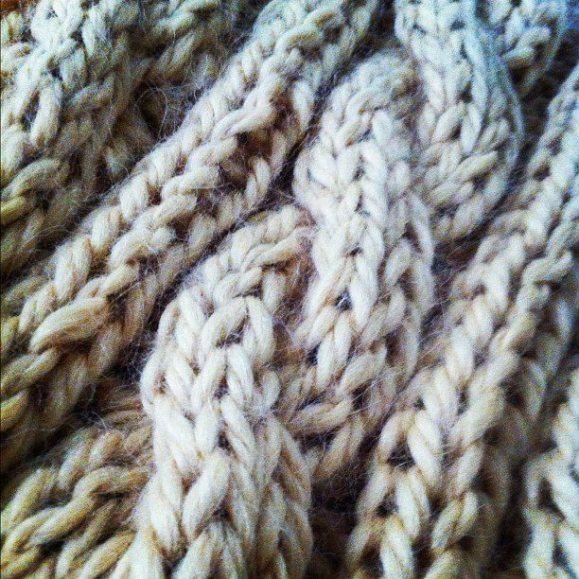 knitting cables is so fun!