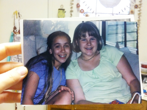 Blythe and Katie back in Middle School