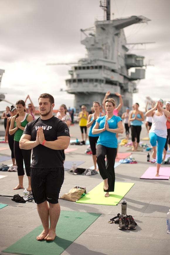 Yoga on the Yorktown