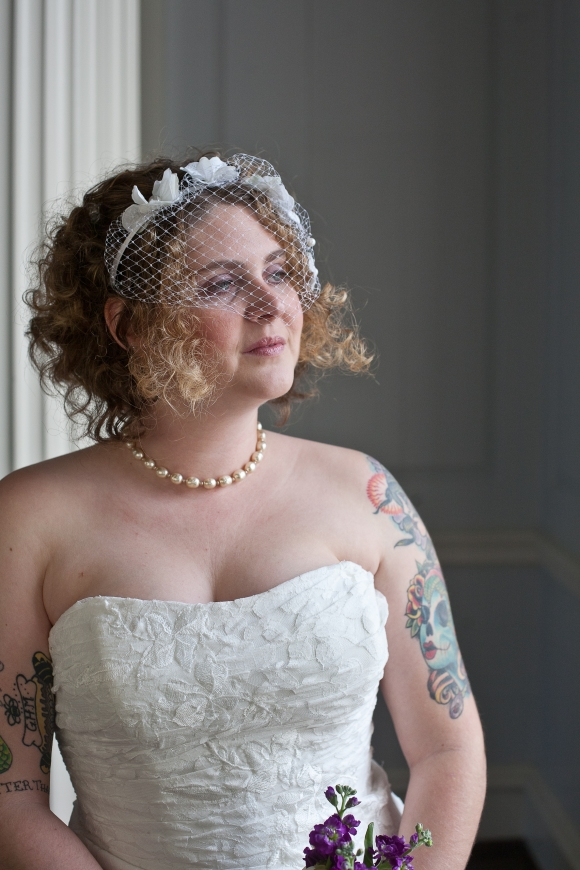 love the birdcage veil
