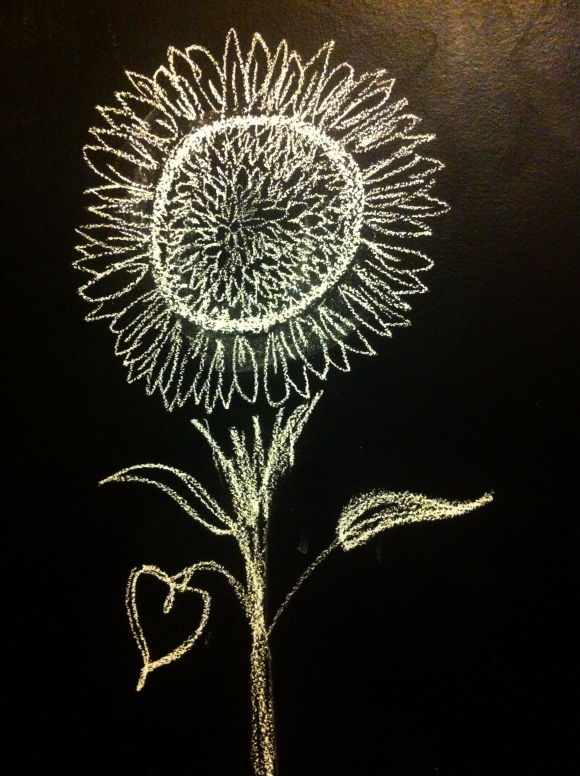 practicing my chalk flowers